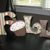 {decorative wooden letters}