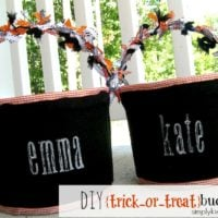 {DIY trick-or-treat buckets}