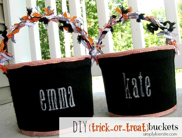 DIY Trick-or-Treat Buckets