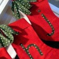 {monogrammed felt stockings}