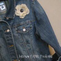 {burlap flowers}