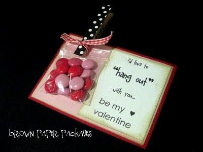 Clothespin Valentine Idea for Kids