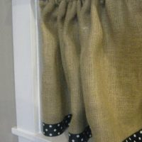 {burlap curtains}
