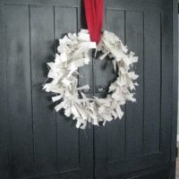 {canvas drop cloth wreath}