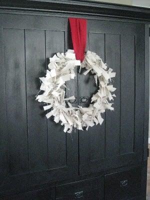 Canvas Dropcloth Wreath