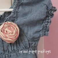 {rolled fabric flower tutorial}