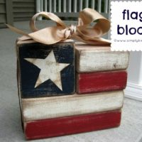 Easy 2×4 Flag Blocks