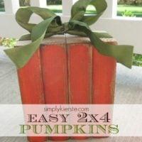2×4 Wood Pumpkin
