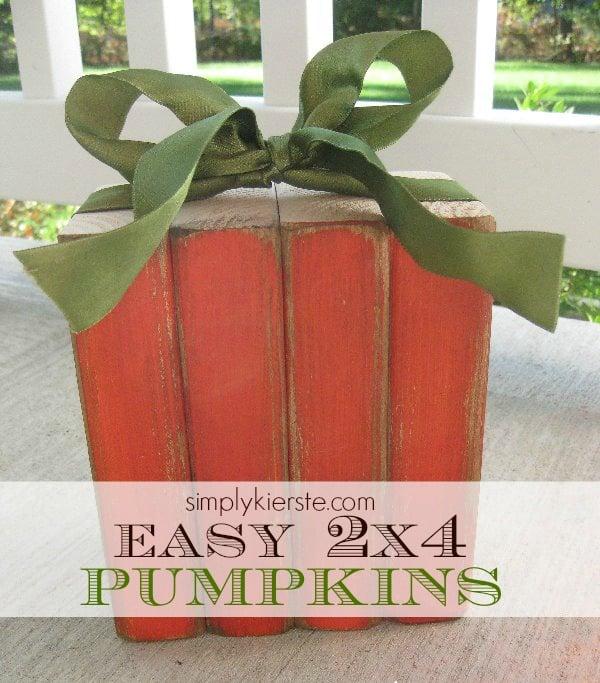 2x4 wood pumpkin | simplykierste.com