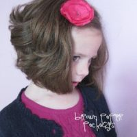 {satin poppy hair clips}