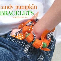 candy pumpkin bracelet  | simplykierste.com