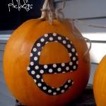 {monogrammed pumpkins}