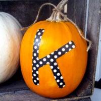 Easy Monogrammed Pumpkins