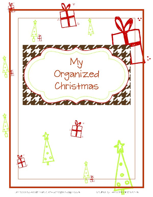 organized christmas planner  free printables