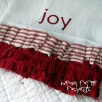 {ruffled flour sack dishtowels}