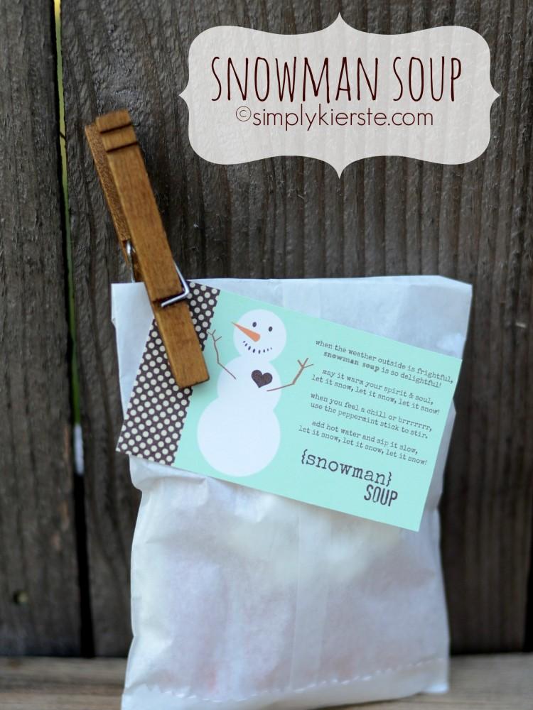 Snowman Soup | free printable | simplykierste.com