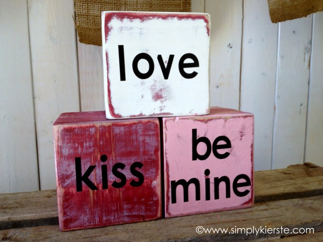 Conversation Love Blocks, Simple Valentine Decor