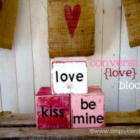 Valentine's Day conversation blocks