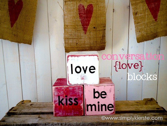 valentine's day conversation blocks | oldsaltfarm.com