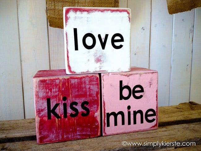 valentine's day conversation blocks  | oldsaltfarm.com