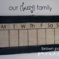 {burlap dry-erase weekly calendar}