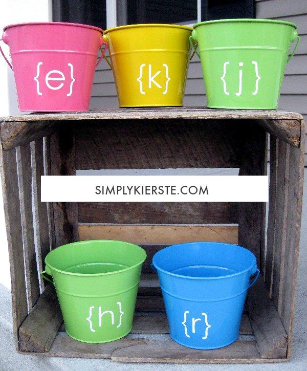 Personalized Easter Pails | oldsaltfarm.com