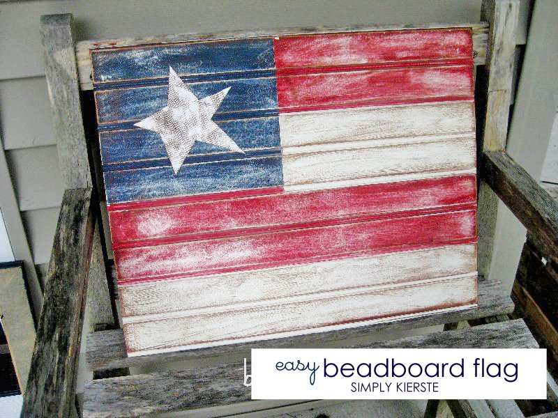 Easy beadboard flag