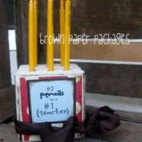 {4×4 block pencil holder} teacher appreciation gift