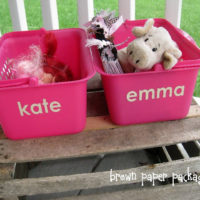{a place for everything} portable toy baskets