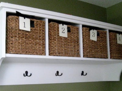 1tag numbers on baskets