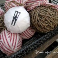 {twine and rag ball ornaments}