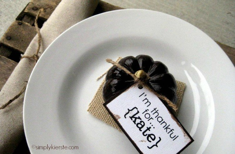 mini pumpkin place cards | simplykierste.com 2