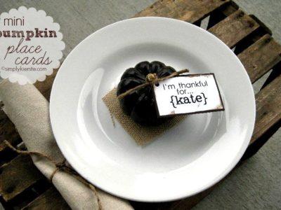 mini pumpkin place cards   simplykierste.com