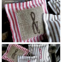 Easy Ticking Pillow Ornaments