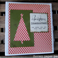 {christmas memories binder}