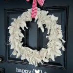 {simple valentine's day front door decor}