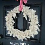 {simple valentine's day front door decor}