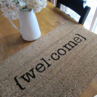 {$6 welcome mat}