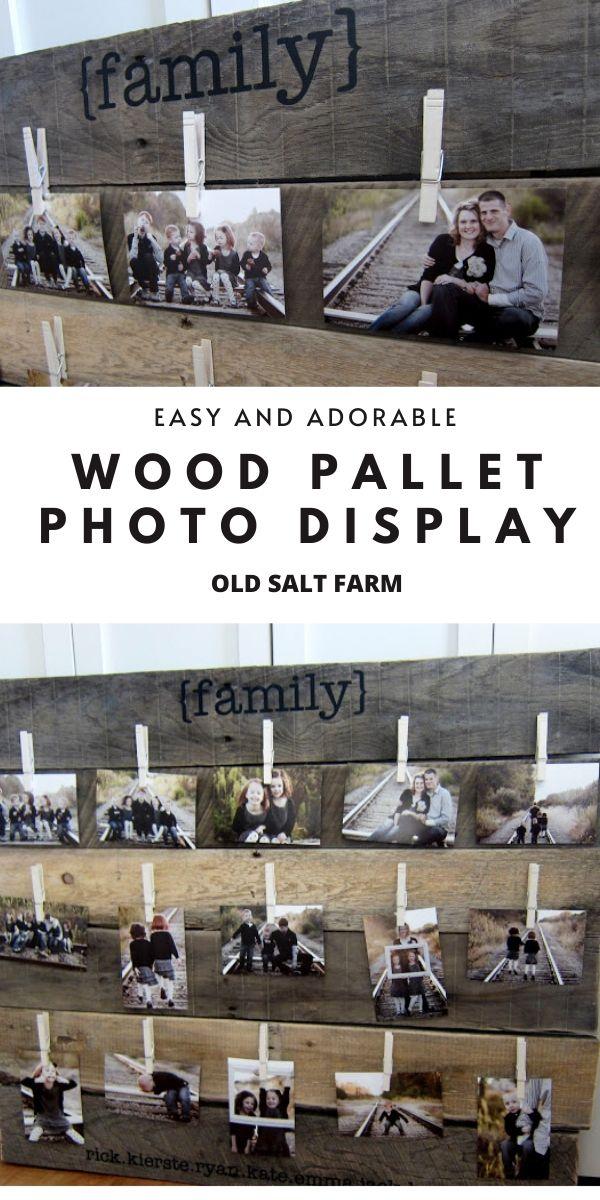 DIY Wood Pallet Photo Display