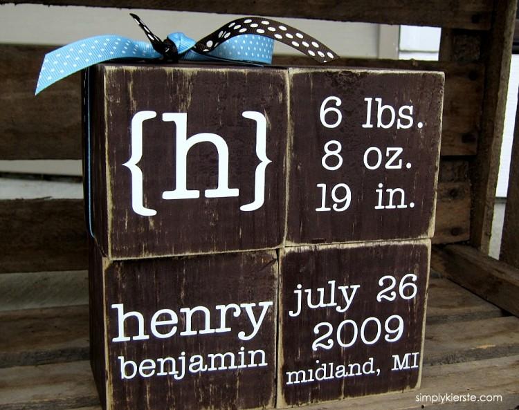 Personalized Baby Blocks | simplykierste.com