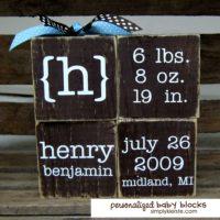 Personalized Baby Blocks | oldsaltfarm.com