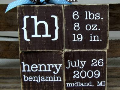 Personalized Baby Blocks | simplykierste.com