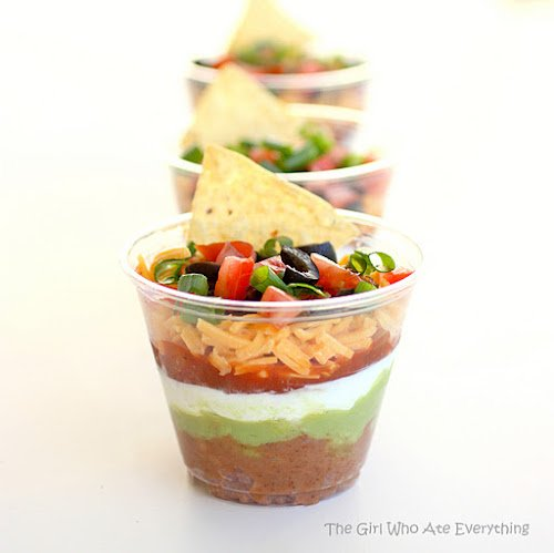 mini seven layer dip | oldsaltfarm.com