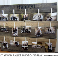 DIY Wood Pallet Photo Display| oldsaltfarm.com