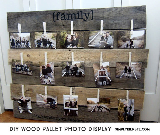 DIY Wood Pallet Photo Display| simplykierste.com