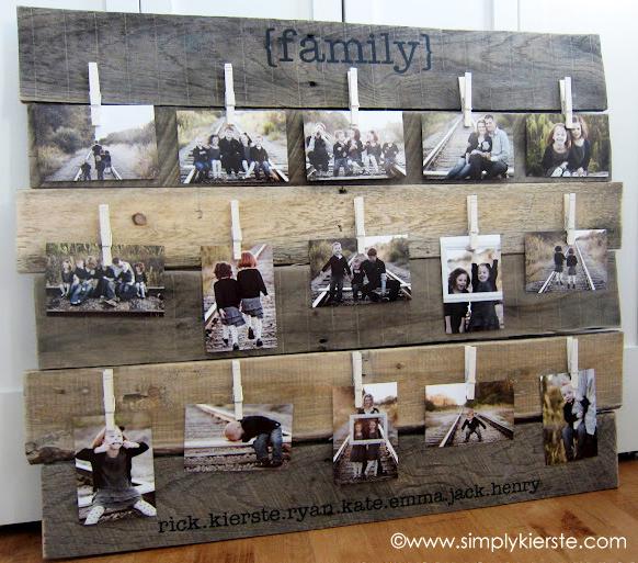 wood pallet photo display 2