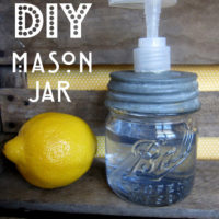 {DIY mason jar soap pump}