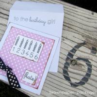 {sketch pen tutorial} birthday girl card