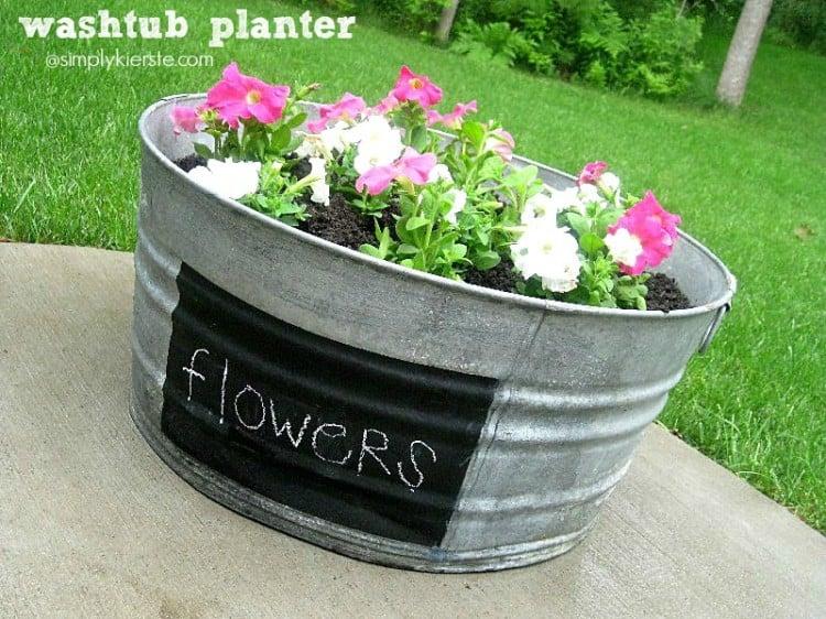 Washtub Planter | oldsaltfarm.com