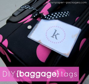 baggage tags header--brown paper packages